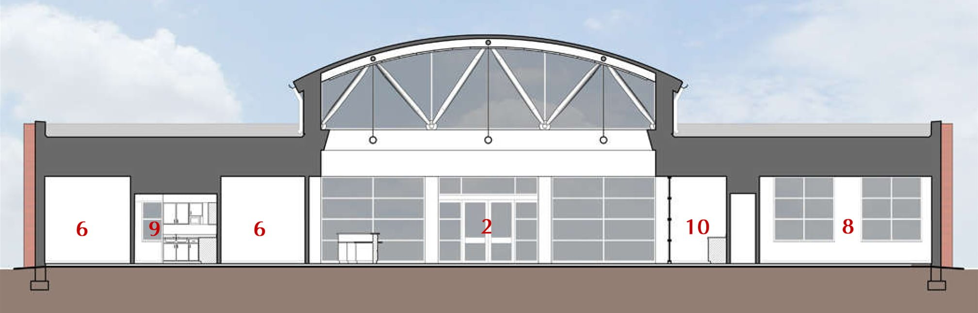 Madison County Executive Airport Terminal Building Sections (2016x645)