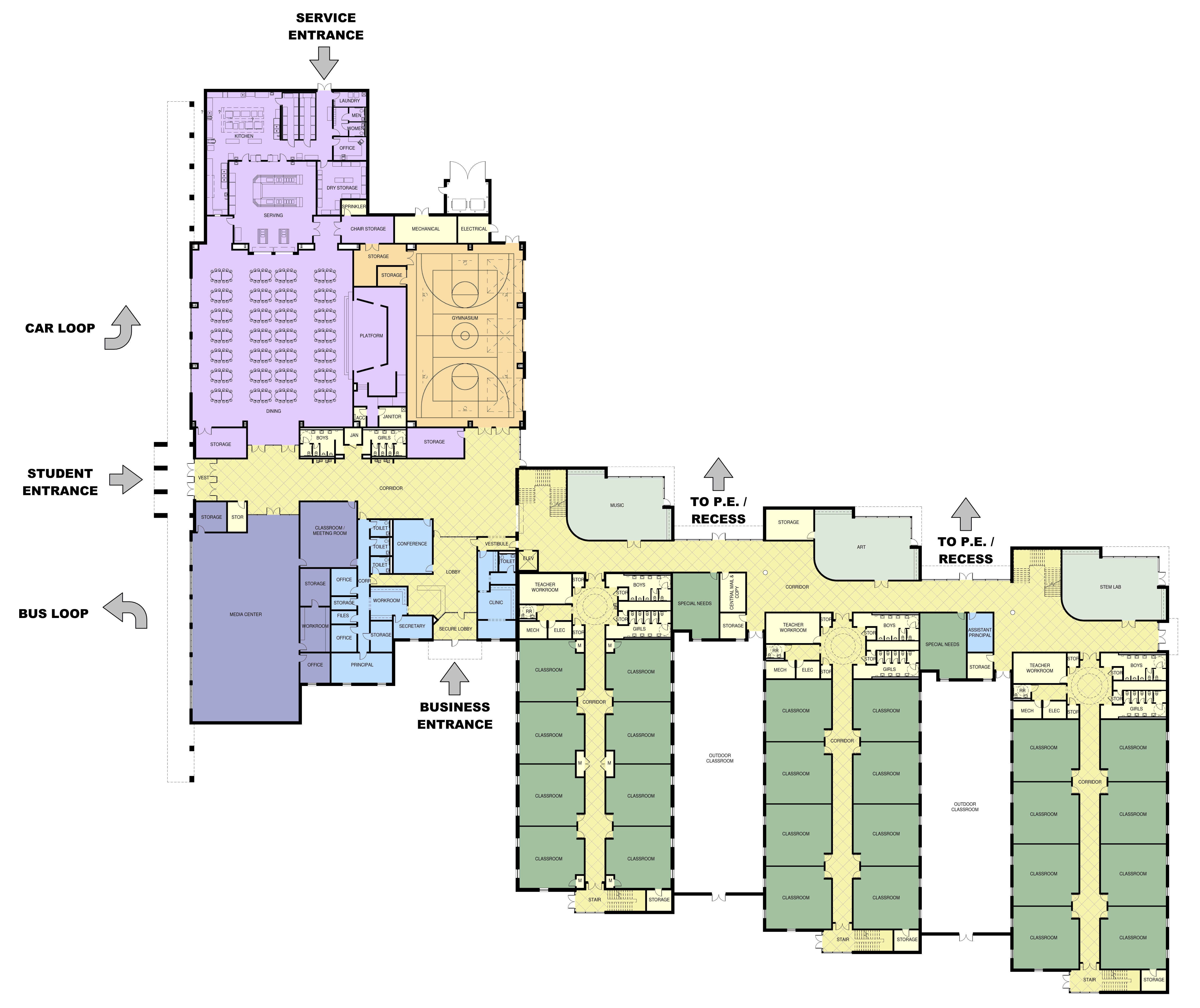 first floor color plan