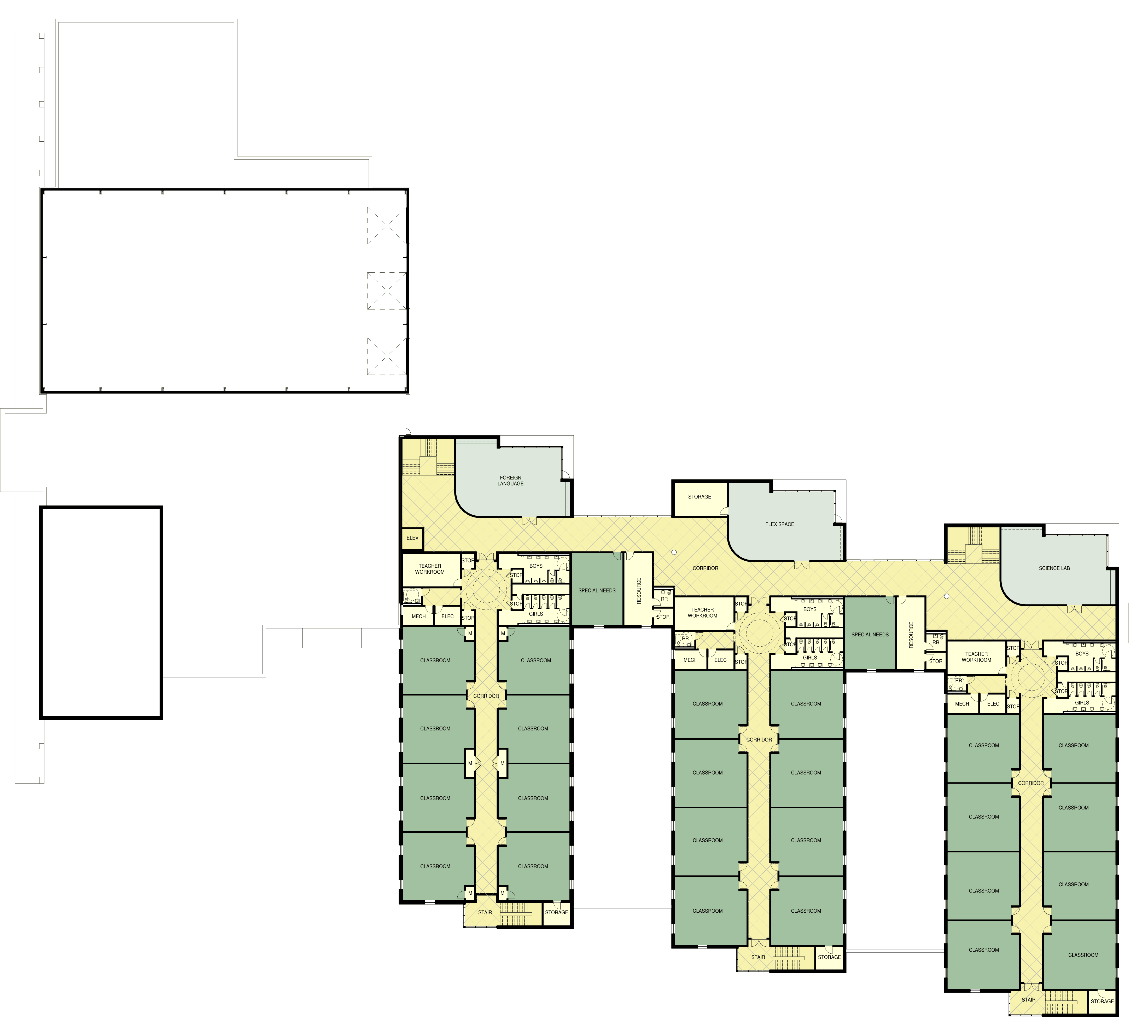 second floor color plan